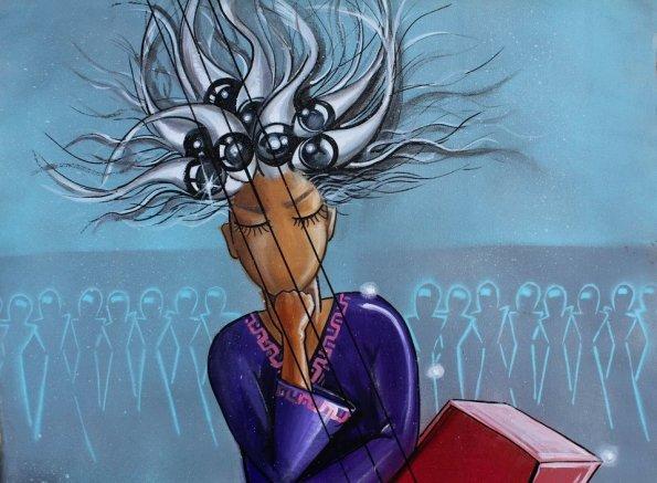 Afghan artist's work