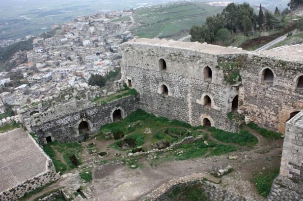 Krak des Chevaliers overlooking Al-Husn