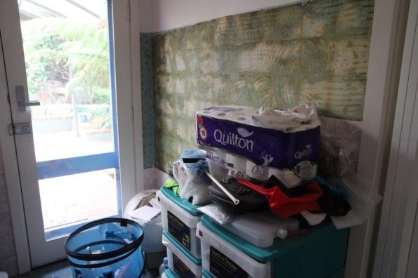 laundry tiles fell off