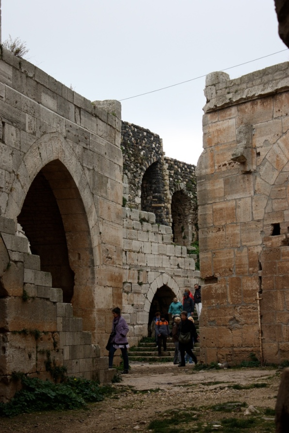 Inside the Krak des Chevaliers