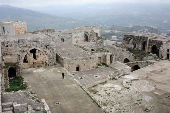 open area at the Krak des Chevaliers