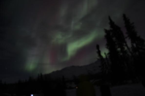Aurora fading a bit