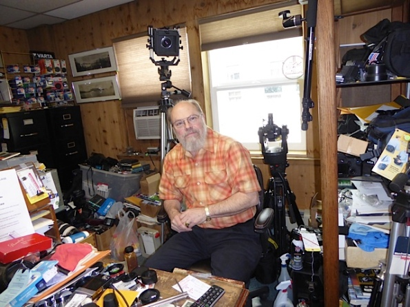 Ric Thompson, camera repairer in Fairbanks