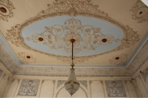 Ferrer Palace ceiling and chandelier