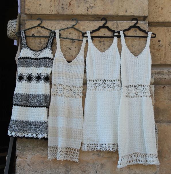Crocheted dresses, Cuba