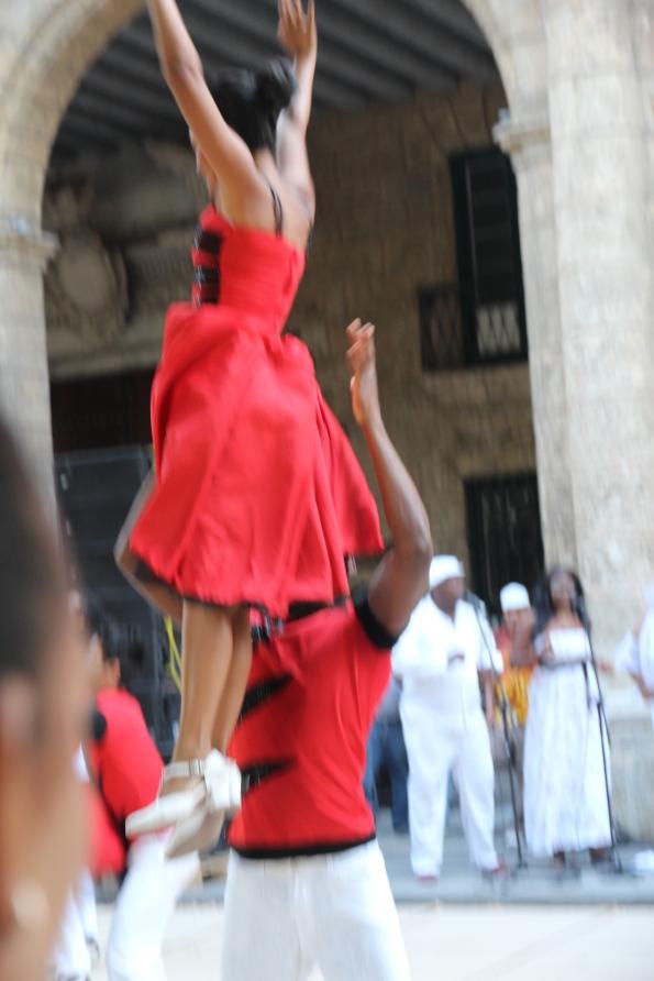 Dance twirl in Cuba