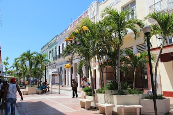 Cienfuegos main shopping street