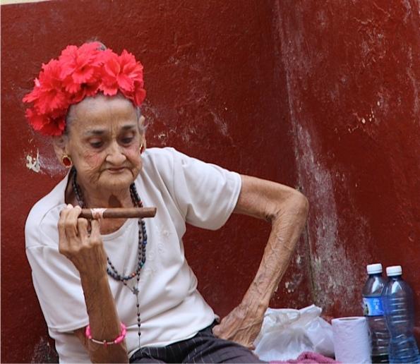 cigar smoker in Cuba