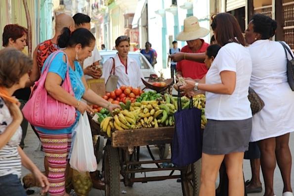 fruit stall in Cuba