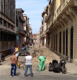 Jackhammering in Cuba