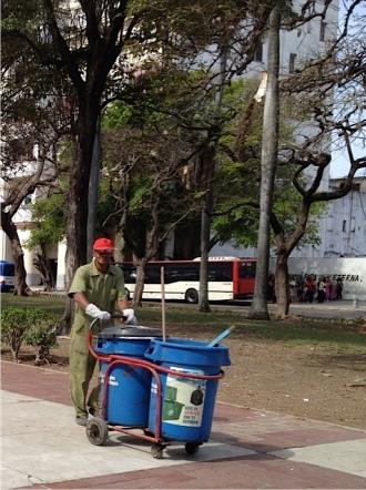 Street sweeper in Cuba