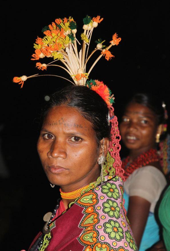 Baiga dancer with headdress, India