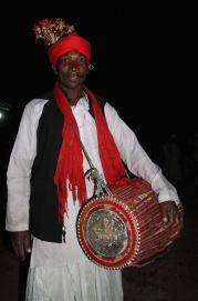 A Baiga drummer