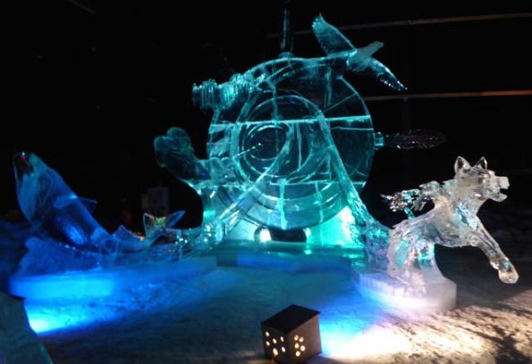 Alaskan Tambourine, ice sculpture