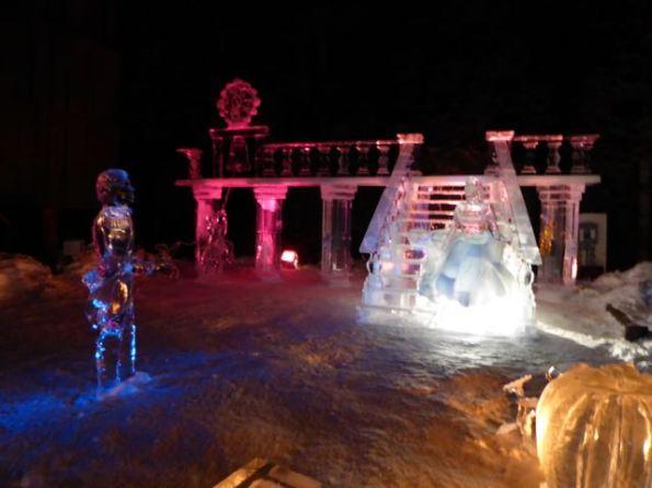 Cinderella, Prince Charming ice sculpture