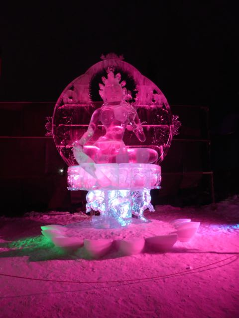 ice sculpture, Goddess of Determination