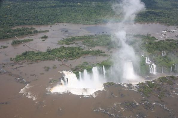 Approaching Iguazu Falls and Devil's Throat