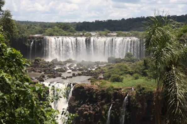 Multiple drops at Iguazu Falls