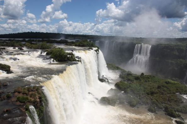 Stretch of Iguazu Falls