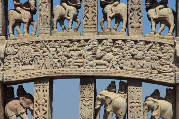 detail, Main gate, Stupa 1, Sanchi