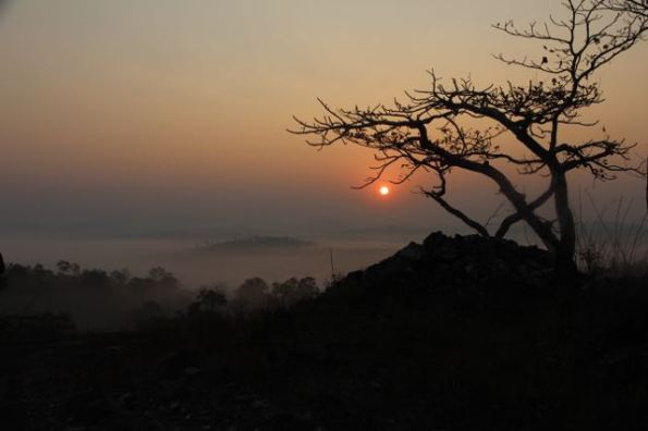sunrise, Western Ghats, India