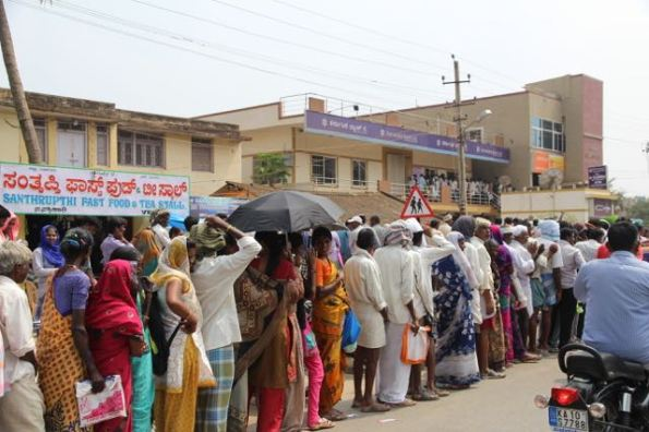 Bank queues in India