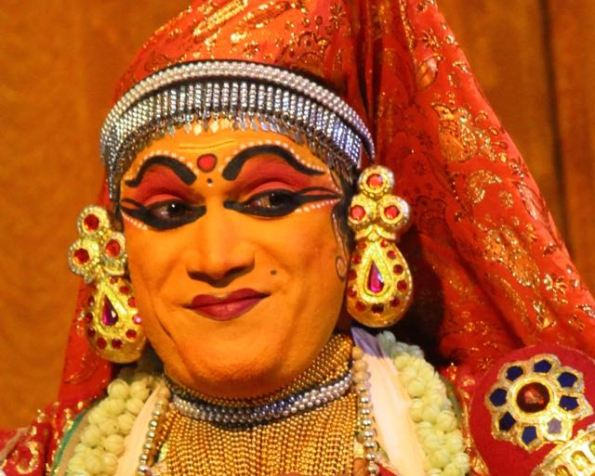 Kathakali dancer looking smug