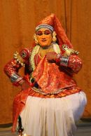 Kathakali dancer—flirting