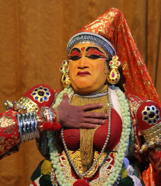 Kathakali dancer—upset