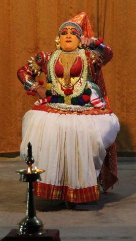 Kathakali dancer—bossy