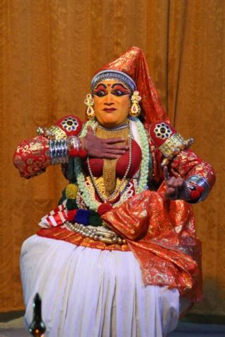 Kathakali dancer—disbelief