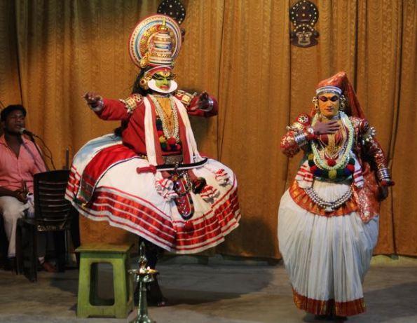 Kathakali dancers—Jayantha and Lalitha