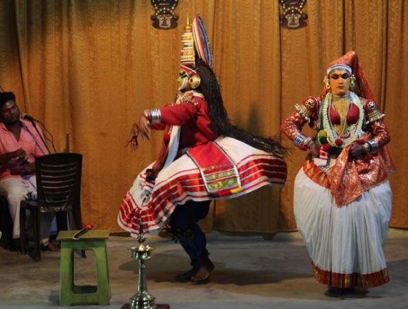 Kathakali dancers—Jayantha in a rage