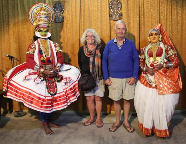 Kathakali dancers with LeggyPeggy and Poor John