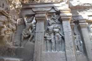 Carvings at Kailasha Temple, Ellora Caves