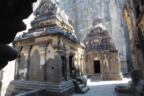 Shrines at Kailasha Temple