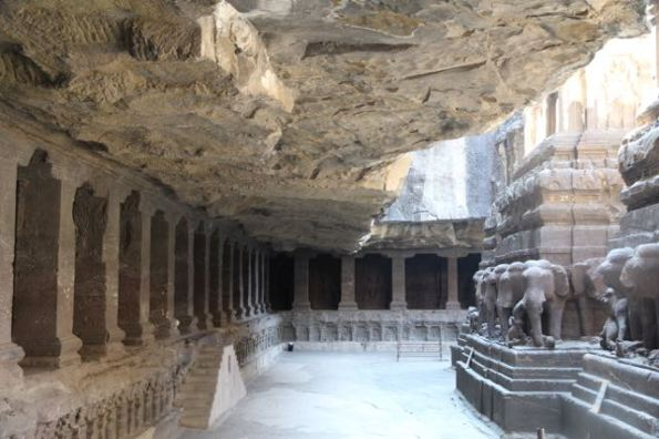 Inside Kailasha Temple