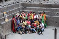 School group pic at Kailasha Temple, Ellora Caves