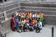 School group pic at Kailasha Temple, Ellora Caves