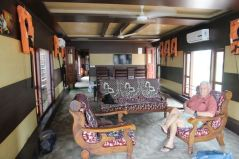 Houseboat living–dining room