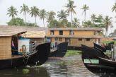 Five Kerala houseboats