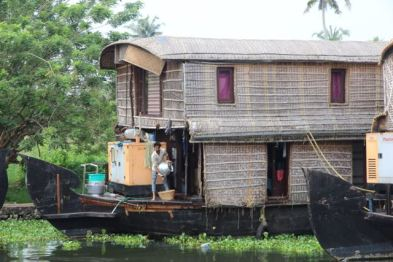 Two-storey houseboat