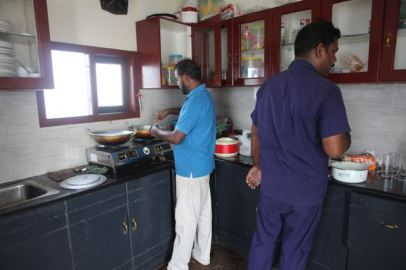 Houseboat kitchen