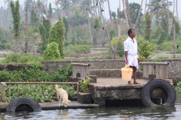 Fetching water from Punnamada Lake