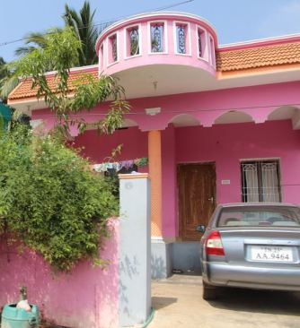 Pink and orange house