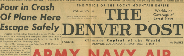 Denver Post 19 Dec 1952