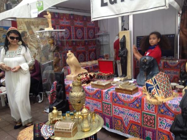 Egyptian stall at multicultural festical, Canberra