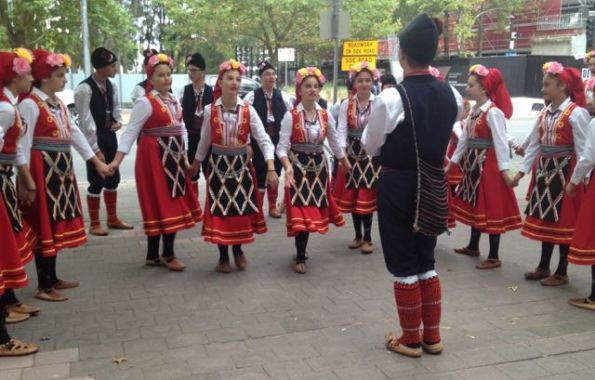 Macedonian dancers