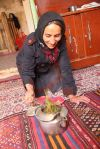 Offering tea, Iran