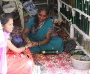 Selling bangles, India